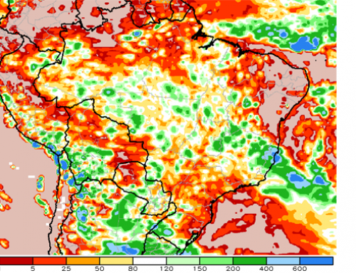 Could dry weather pressure Brazil's soybean, corn, and cane crops?