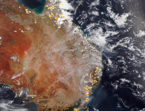 Australian wildfires visible from space