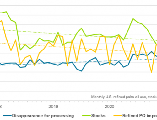 Palm oil stocks dwindle on higher use, lower imports