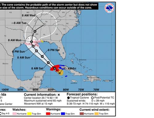 Hurricane Ida may hit Louisiana as early as Sunday